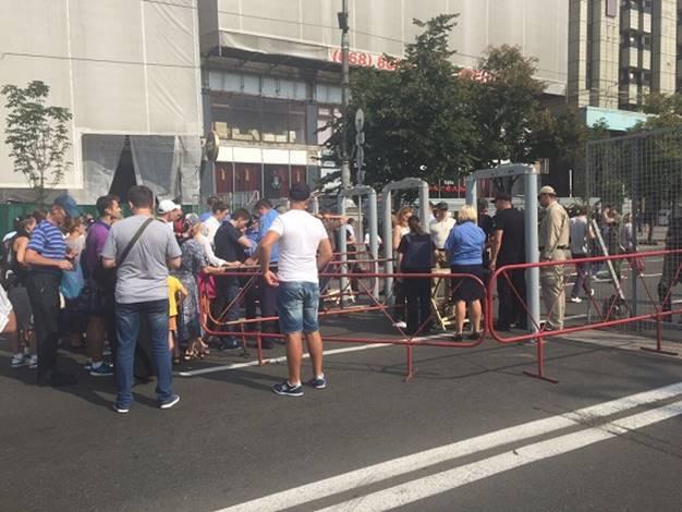 На День Независимости центр Киева будет оцеплен, также будут задействованы кинологи и взрывотехники