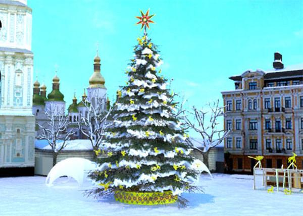 Новогодняя елка на Софийской площади в этом году будет высотой 26 метров