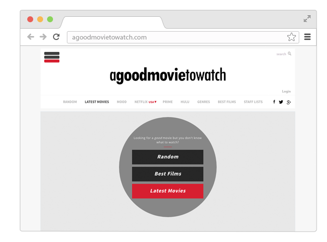 Сайт-помощник для выбора хорошего неочевидного кино