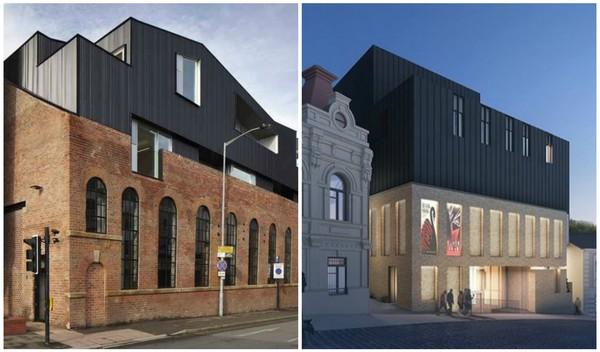 С 2012 года в Англии существует здание, архитектура которого очень схожа с киевским Театром на Подоле