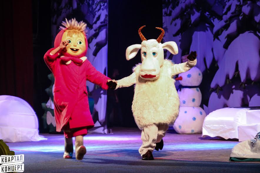 В Киев привезли звезд мультфильма «Маша и Медведь»