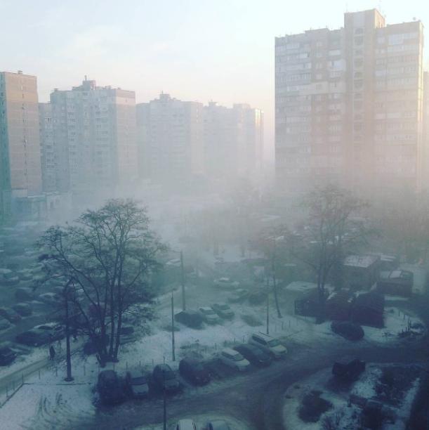 Туман в Киеве. Фото: А.Бойко