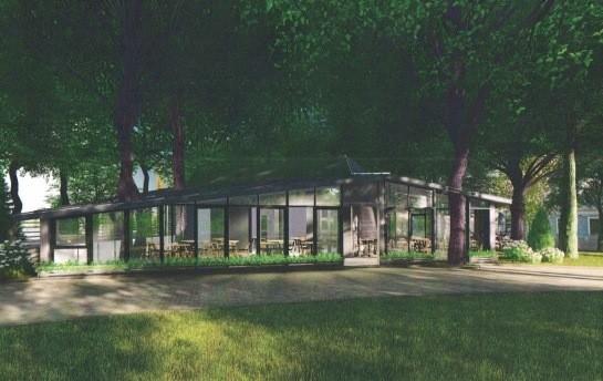Проект реконструкции здания в парке Шевченко