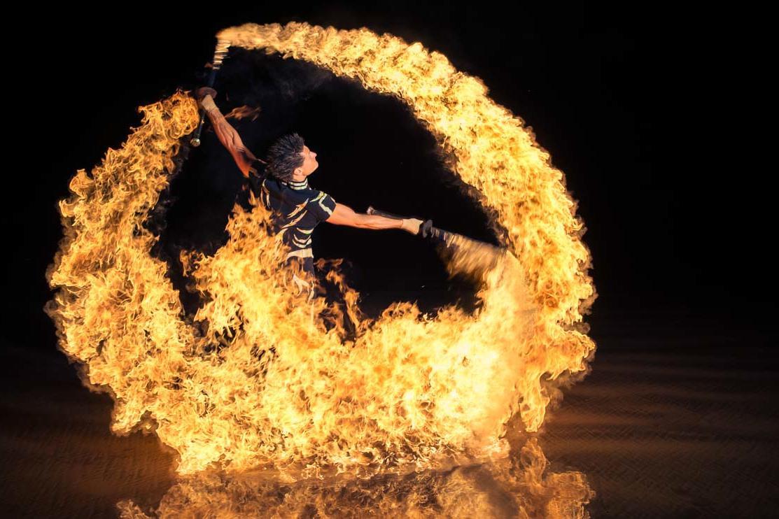 В столичном парке бесплатно покажут огненное шоу