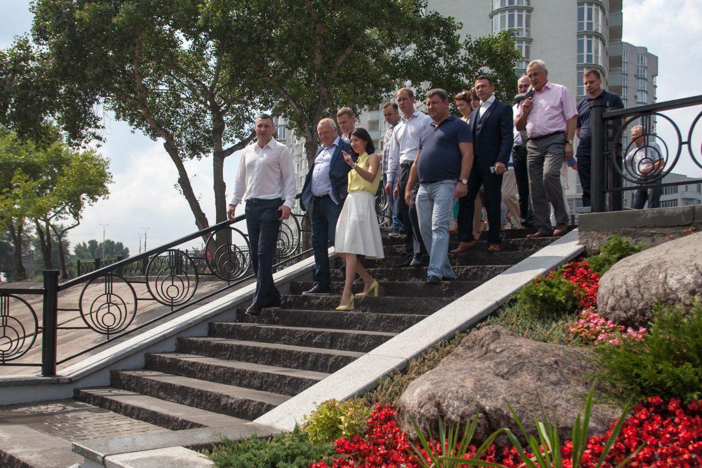 Кличко открыл вторую очередь парка «Наталка». Фото