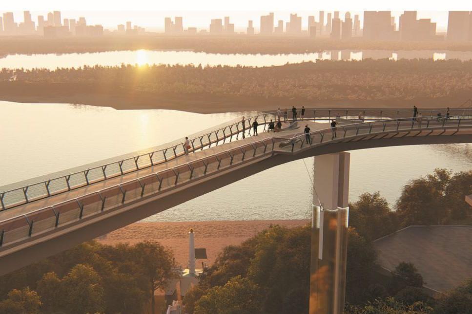 """Стало известно, когда построят мост между """"Владимирской горкой"""" и Крещатым парком"""
