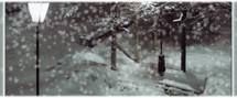 … а потом падает снег