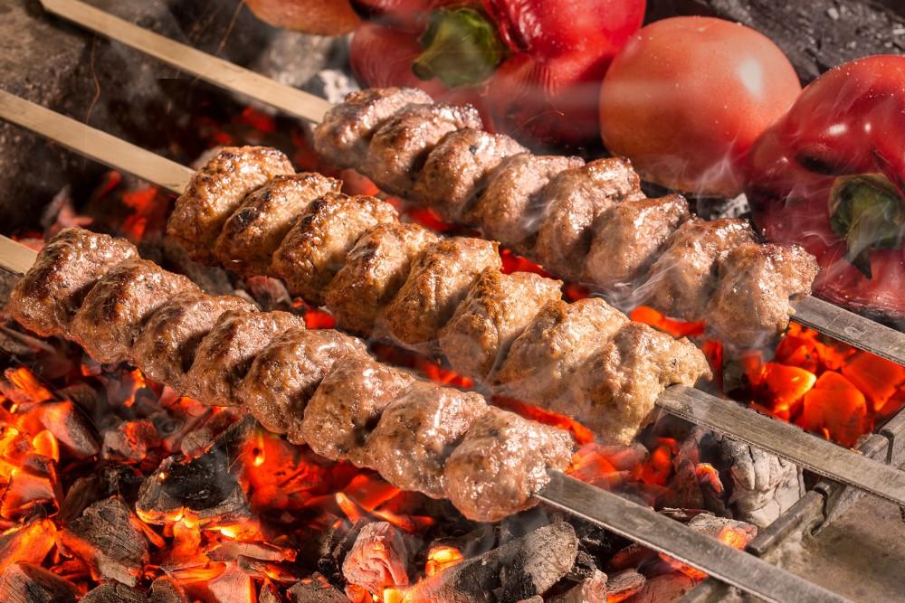 Люля-кебаб ассорти (курица, баранина, телятина)