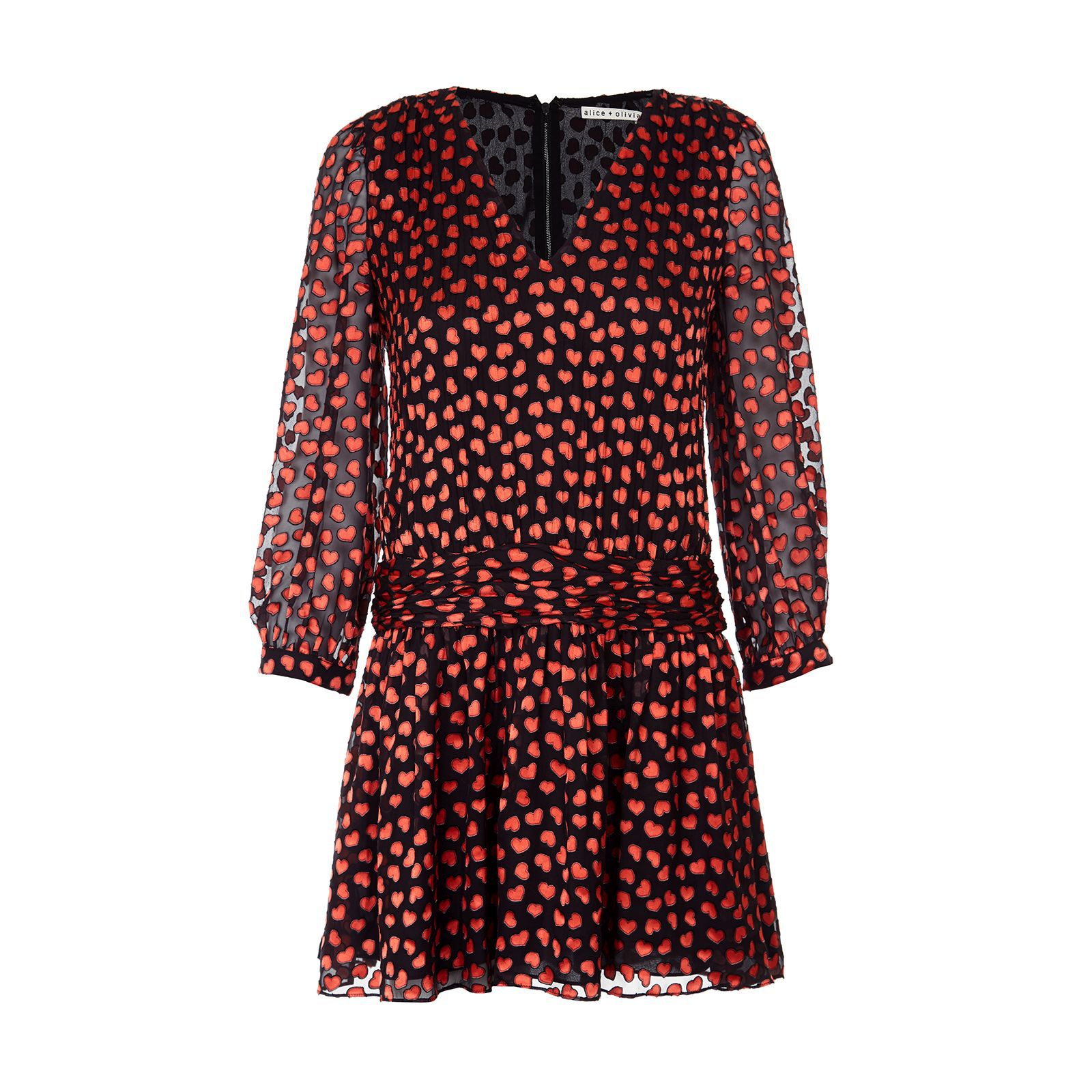 2577ad55827 Двухслойное платье в мелкое сердечко – отличный вариант для свиданий и  создания женственного образа. Но если у вас менее романтичное настроение