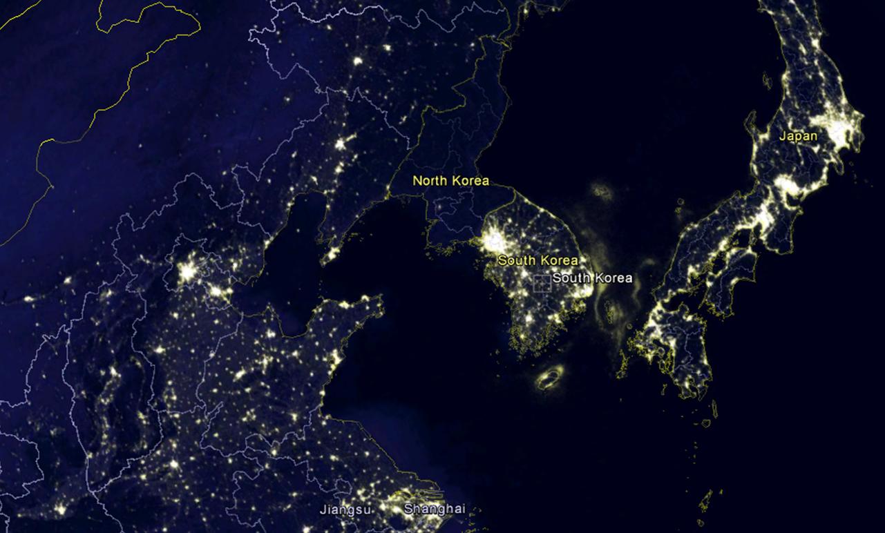 нашли магазине фото северной кореи ночью из космоса сходство матерью