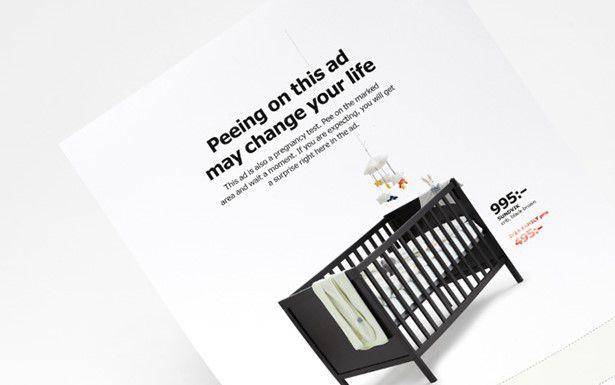 IKEA запустила рекламу с бесплатным тестом на беременность