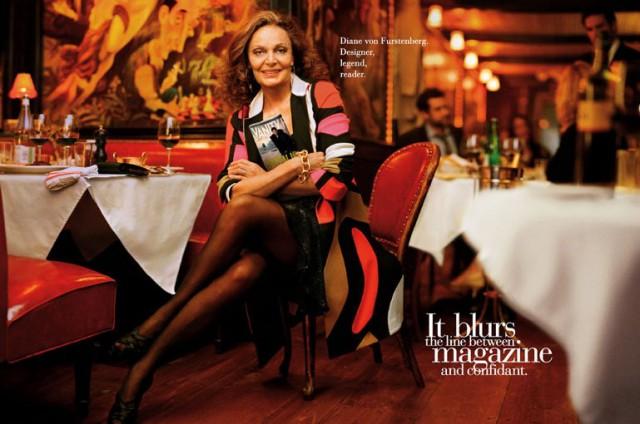 Президент Совета модных дизайнеров Америки и просто легенда Диана фон Фюрстенберг (Diane Von Furstenberg) / Vanity Fair