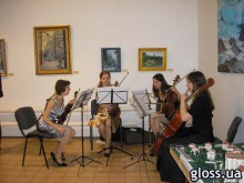 На презентации квартет исполнял лучшие произведения классической музыки
