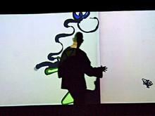"""""""Плетение"""" Кейси Риз (США) - узор из графических линий, направление которых может менять сам посетитель выставки"""