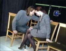 """Юра Яценко и Лариса Парис на сцене мастерской """"Сузір'я"""""""