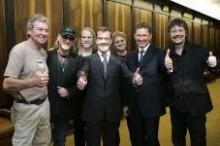 Дмитрий Медведев с музыкантами Deep Purple