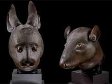Бронзовые головы крысы и кролика