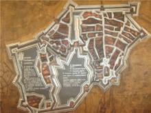 """План Полтавской крепости в 1709 году. Экспонат Музея """"Поле Полтавской битвы"""""""