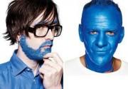 Fatboy Slim и Джарвис Кокер раскрасили лица в голубой цвет