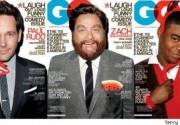 Трейси Морган, Пол Радд и Зак Галифинакис в журнале GQ. Фото