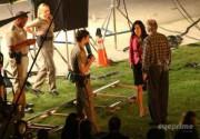 Кортни Кокс, Нив Кэмпбелл и Хайден Панеттьери на съемки фильма «Крик 4». Фото