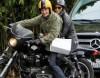 """Экс-возлюбленный Кайли Миноуг катает на мотоцикле """"женщину-кошку"""""""