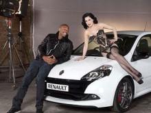 Дита фон Тиз во время съемок рекламного ролика. Фото пресс-службы компании Renault