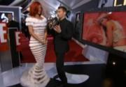 Платье Рианны произвело фурор на Grammys 2011. Фото