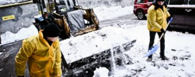 Рекламная акция: с улицы убирают снег