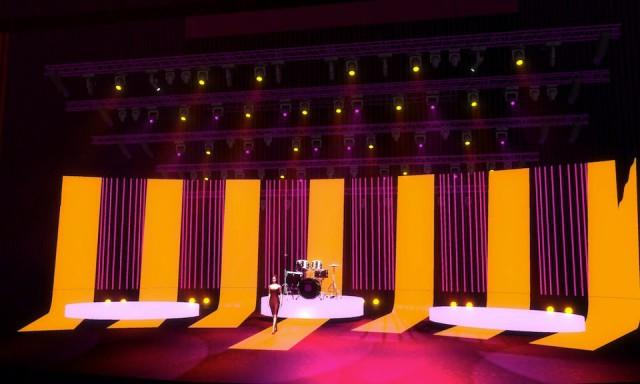 А так будет выглядеть сцена в день концерта