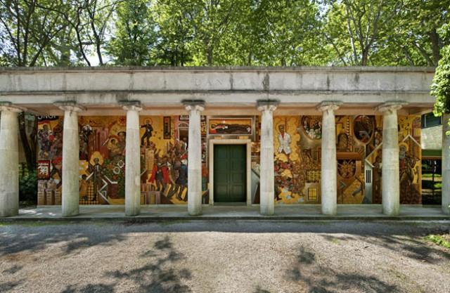 Общий вид росписи Датского павильона на 54 Венецианской биеннале. 2011 год.