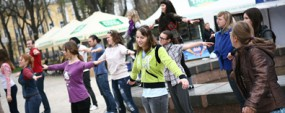 Как прошла общая зарядка в киевском парке