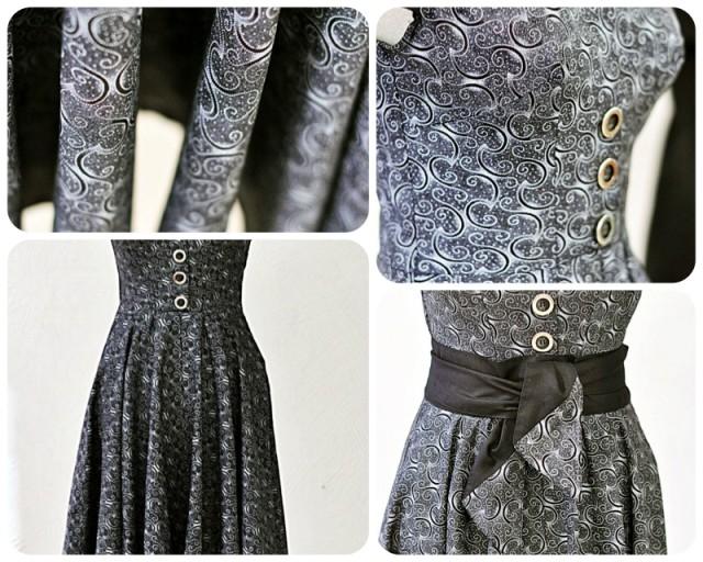 Платье в духе Стиляг из винтажной ткани