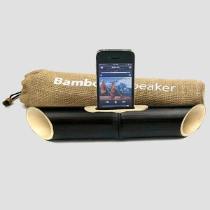 Динамик из бамбука для iPhone