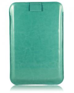 Чехол для планшета 7 кожаный бирюзовый подставка