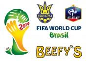 Ресторан  «Beefy`s»  приглашает Вас и Ваших друзей  на просмотр матча между сборными Украины и Франции