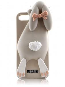 Стильные чехлы на айфон 5-5S Moschino Кролик Виолетта (gray)