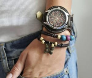 Эксклюзивные наручные часы с браслетами Абстракция из бабочек