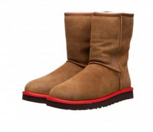 Мужские кожаные сапоги UGG Australia M Classic Short Leather на овчине