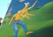 Путин-змей: в Киеве презентуют новое граффити