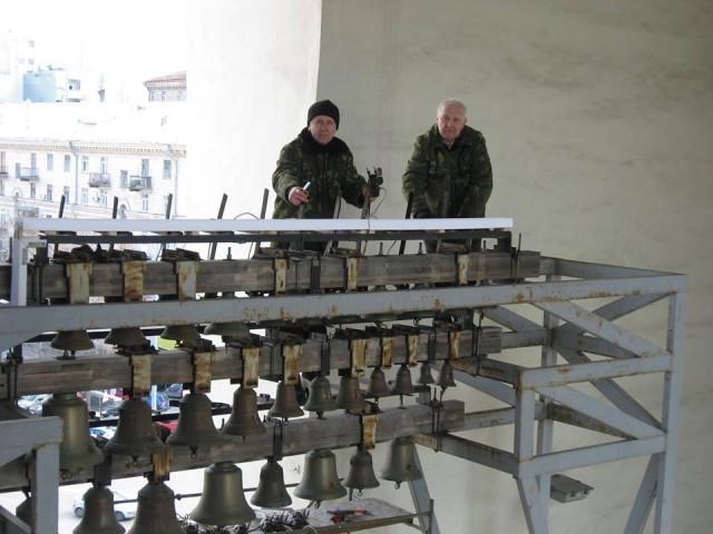 Работа колоколов была восстановлена благодаря мастерам-звонарям