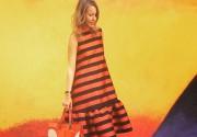 Ксения Собчак надела платье в цветах георгиевской ленты