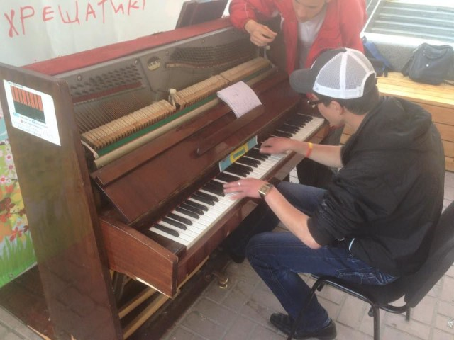Инструмент установили вчера утром в рамках фестиваля Kyiv Open Air