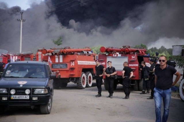 Пожара на нефтебазе не привел к общему загрязнению атмосферы