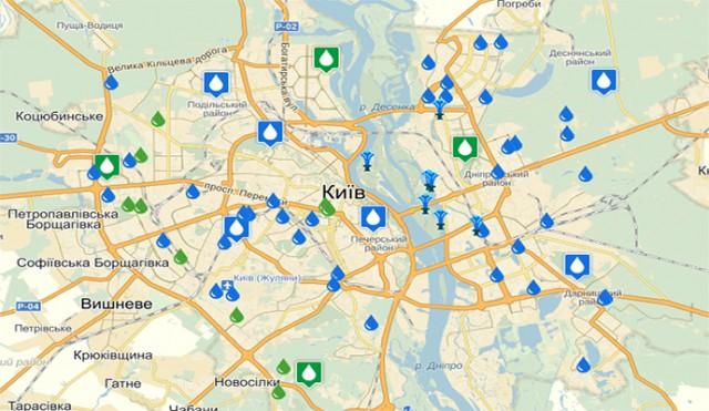 На карте можно посмотреть результаты исследований качества питьевой воды