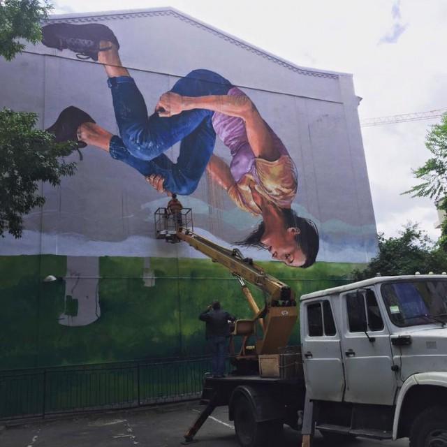 На граффити изображена Анна Ризатдинова