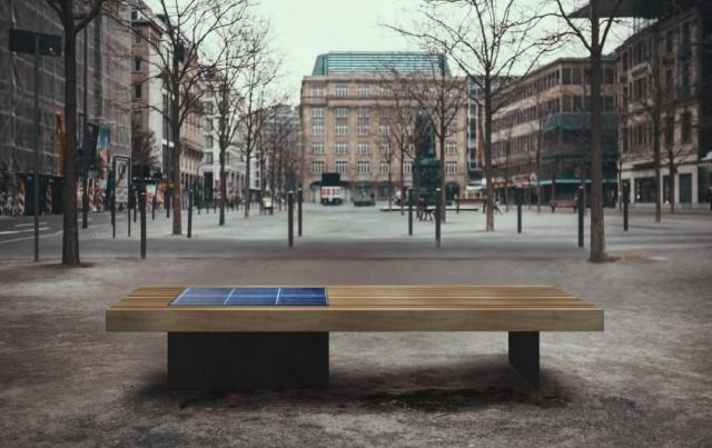 Скамейки будут изготавливаться из металла и дуба в лаконичном дизайне