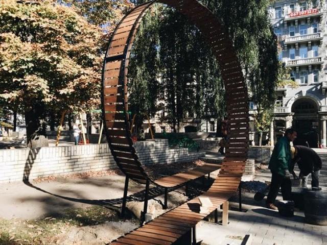 Креативную скамейку установили в парке Шевченко