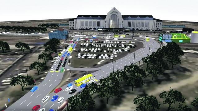 Городские власти планируют реконструировать площадь и упорядочить транспорт
