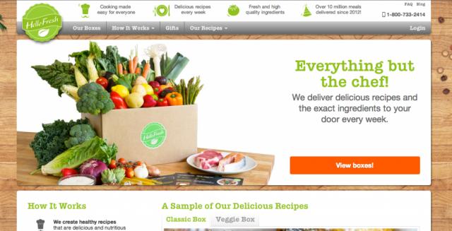 HelloFresh — сайт по заказу ингредиентов для рецептов